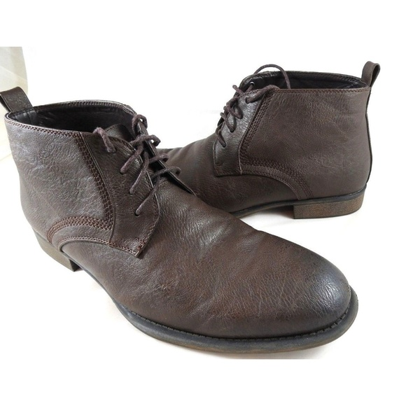 62f6c60f1b2 GUESS Mens Leather Boots Size 10.5